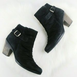 Paul Green Munchen Leather Ankle Booties Buckle